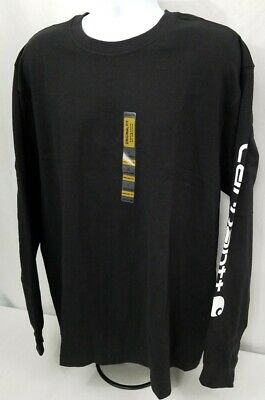 Free ship in US Carhartt K231 Signature SLV Logo Long Sleeve T DCF Med J5-K231