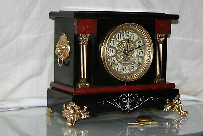 ANTIQUE SETH THOMAS SHELF MANTLE CLOCK-Totally!!-Restored- c/1905