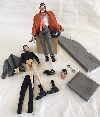 TWO Lupin the Third Figurines with Accessories - Vintage