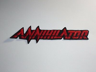 Annihilator Thrash Speed Metal Iron On Embroidered Patch