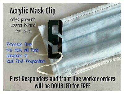 Face Mask Clip, S Clip to Secure Face Mask, Reusable Mask Clip, Ear Save