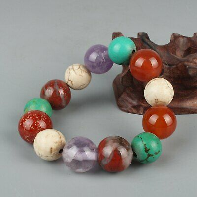 Chinese Exquisite Handmade agate crystal turquoise Bracelet