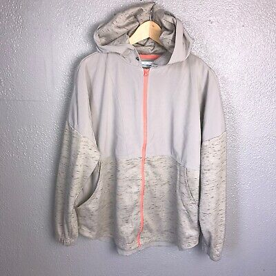 Columbia Womens Flint Grey Heather Lost Lager Full Zip Up Hoodie Size XL