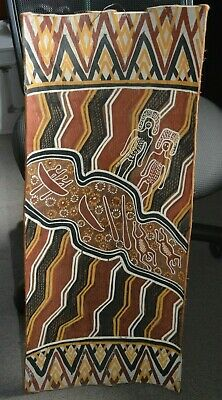 Vintage Aboriginal Bark Painting From Arnhem Land.