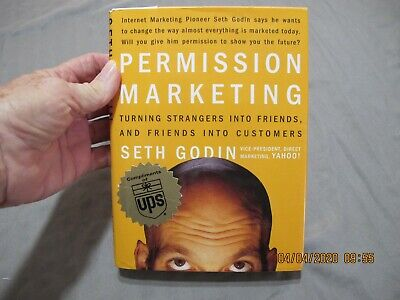 Permission marketing Seth Godin 1999 Compliments of UPS Autographed HC & JK Simo