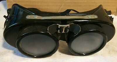 Vintage Steampunk Mad Max Aviator Welding Goggles , CLEAR AND DARK LENS INCLUDED