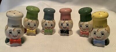 Vintage Ceramic Chef Spice Shakers Made In Japan