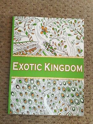 COLOUR THERAPY RELAXING ADULT COLOURING BOOK Stay home Exotic theme