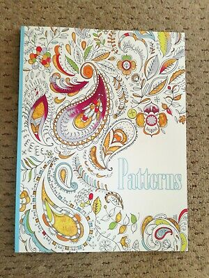COLOUR THERAPY MIND RELAXING ADULT COLOURING BOOK Stay home Patterns theme