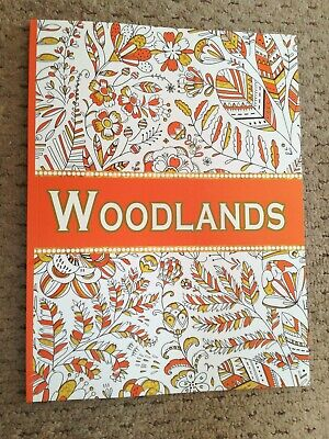 COLOUR THERAPY MIND RELAXING ADULT COLOURING BOOK Stay at home! Woodlands Theme