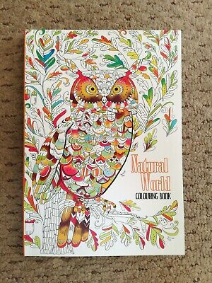 COLOUR THERAPY MIND RELAXING ADULT COLOURING BOOK Stay home! Natural World Theme