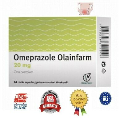 Omeprazole 20 mg Made in eu Olainfarm 14b tabl