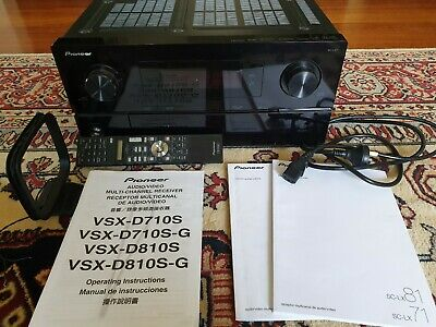 Pioneer Receiver - SC-LX 71 with remote control and manuals(Black)