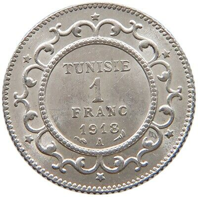 TUNISIA 1 FRANC 1918 TOP #t115 085