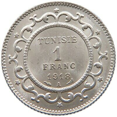 TUNISIA 1 FRANC 1918 TOP #t115 095