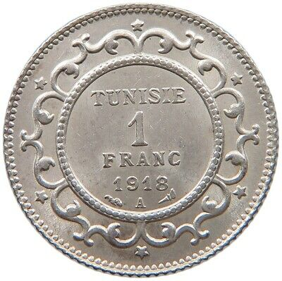 TUNISIA 1 FRANC 1918 TOP #t115 087
