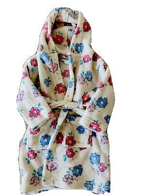 JOHN LEWIS GIRLS SOFT GLUFFY FLORAL DRESSING GOWN AGED 2-3 Years