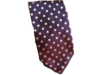 100% Pure Silk Purple Pink Polka Dots Mark's & Spencers Italy 2 Tone Easter Gift