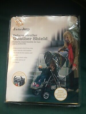 Jeep Weather Shield Plastic Rain Cover for Travel System Baby Strollers NEW