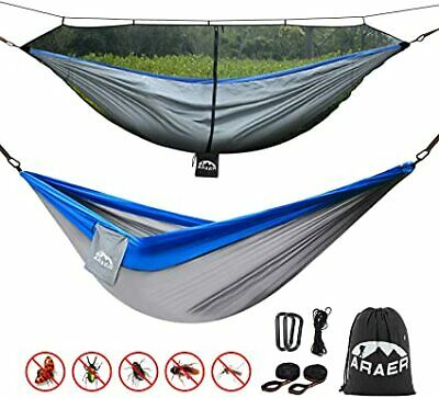 Double Camping Hammock, 660 Pounds Capacity, Sturdy Tree Straps Included, Easy t