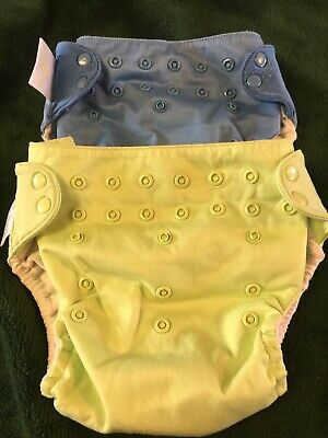 Set of 2 Bumgenius Cloth Diapers w Snaps