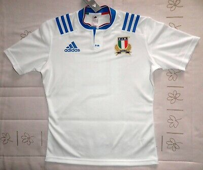 ITALIA camiseta blanca rugby 2016 BNWT shirt jersey maillot 6 Nations 16 ADIDAS