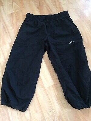 Black Nike 3/4 Length Cropped Elasticated Trousers XL Girls Age 13 - 15 158-170