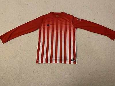 Nike Dri Fit Division II boy's football jersey in red/white - age 13/15