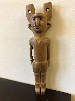 Guatemala Carved Wood Figural Man Slingshot, ca. 20th century AD, FREE SHIPPING