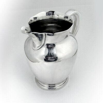 Cartier Water Pitcher Scalloped Rim Sterling Silver 1940s