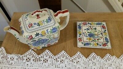 masons regency plantation colonial fan teapot and stand