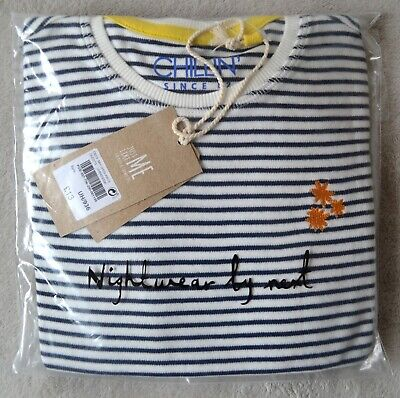 BNWT Next Boys, Girls Unisex Pyjamas 7-8 Years , Navy / White Stripes