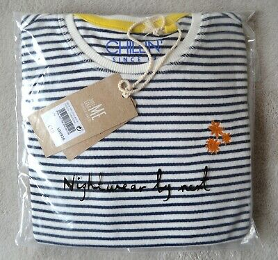 BNWT Next Boys, Girls Unisex Pyjamas 8-9 Years , Navy / White Stripes