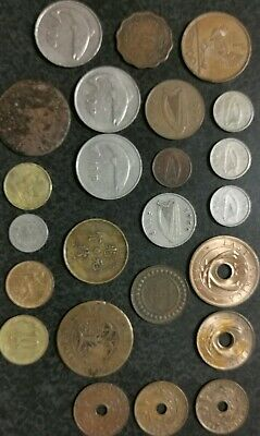 Old  Bulk Coin Lot: World /- Eire STH Africa China Tunisia Hu-Peh Province.
