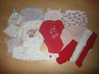 13 PIECE SET/BUNDLE baby girls vests/top/trousers/hats/tights AGE 3-6 MONTHS