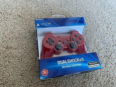 Sony PS3 Playstation DualShock 3 Wireless Bluetooth Controller Deep Red - In box