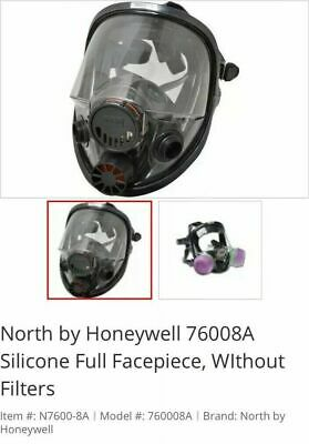 North by Honeywell 76008A Silicone Full Facepiece, WITH Filters