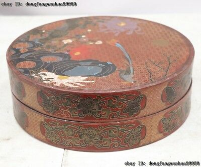 Chinese Wood Carving Line Drawing Painting Flower Bird Birds jewellery Boxes