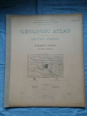 GEOLOGICAL ATLAS OF THE U.S. Parker SD South Dakota Folio #97 1903 USGS