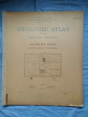 GEOLOGICAL ATLAS OF THE U.S. Oelrichs South Dakota - Nebrask Folio #85 1902 USGS