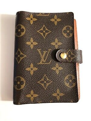 100% Authentic Louis Vuitton Brown Monogram Agenda PM Notebook Date code: CA0950