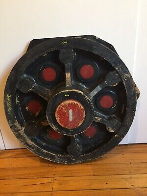vintage industrial wooden pattern mould very large antique