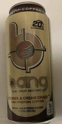 VPX BANG Energy Drink Keto Protein Coffee 12 Cans Cookies&Cream BEST BY 12/19