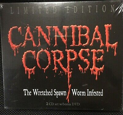 Cannibal Corpse ‎–The Wretched Spawn / Worm Infested –2 CD+DVD+CDEp Digipack USA