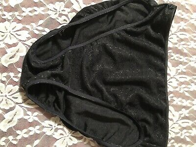 Womens Vintage Panties Size Large Black With Beautiful Design Hicut