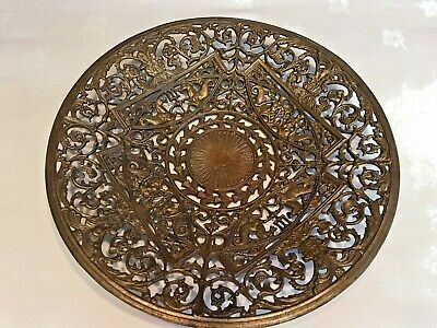 Stunning Antique Coalbrookdale Iron Dish/Charger/Plate - Excellent Condition-11""