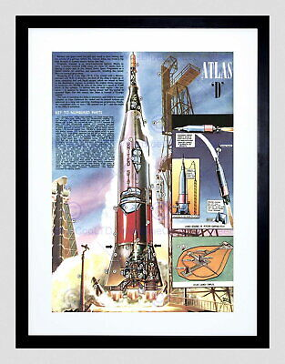 85961 MAG PAGE PROGRAM ROCKET ATLAS D BLAST OFF Decor LAMINATED POSTER AU