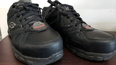 $80 Skechers Women's Synergy Sandlot Work Shoe 76553W, Black, 8 C/D US