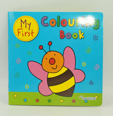 Blue Colouring Book Fun Kids Paint Book Activity Book Creative Books Drawing