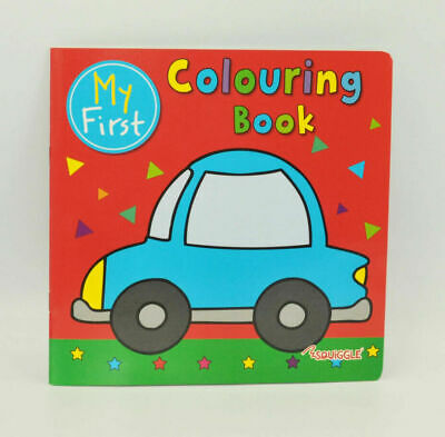 Red Colouring Book Fun Kids Paint Book Activity Book Creative Books Drawing
